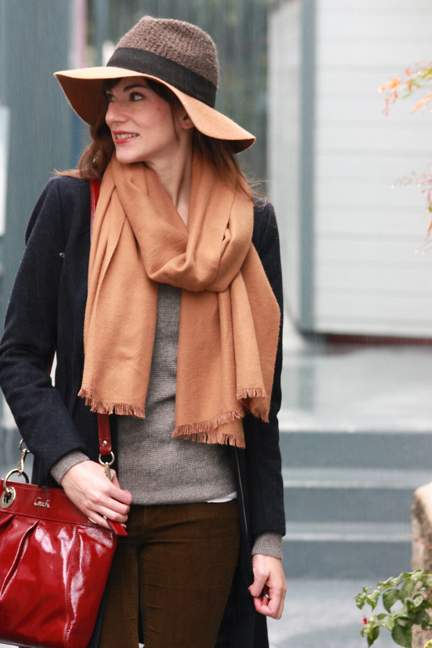 Anthropologie Hat, Camel Scarf