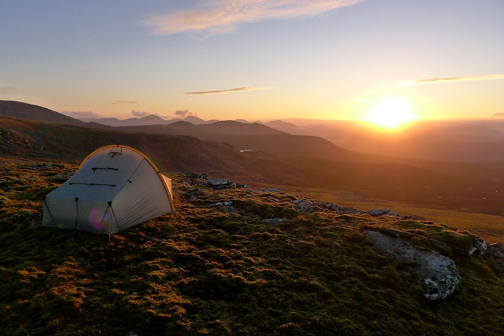 Scarp 1 tent at sunset