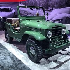A hidden gem within the huge #toyota display #landcruiser #LAAS #LAAutoshow #suv #carporn #classic #truck