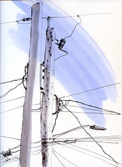 11-29-14 power poles in front of our house (don't miss the flicker)