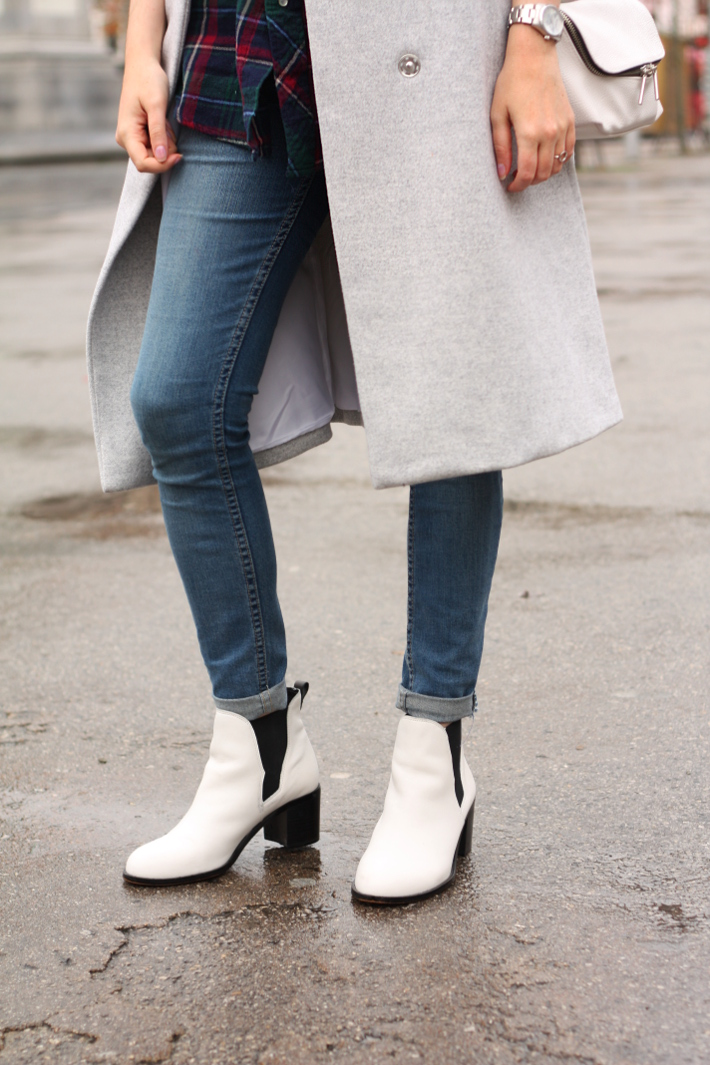 cheap monday skinnies, sam edelman white boots