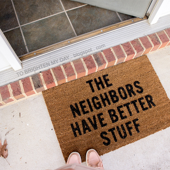 entryway with doormat