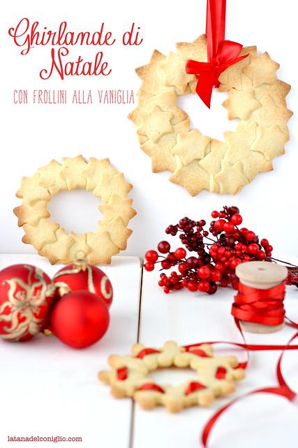 Ghirlande di Natale con frollini alla vaniglia