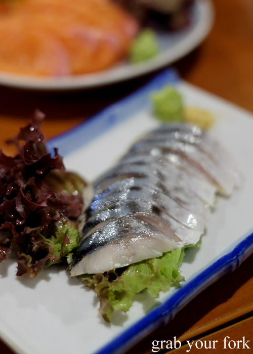 Vinegared mackerel sashimi at Nom, Darlinghurst