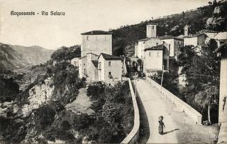 Ascoli com'era: Acquasanta terme, via Salaria (<1922)
