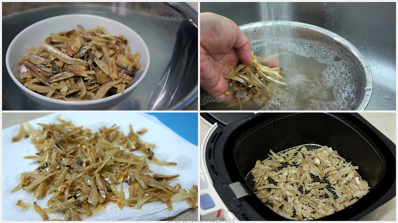 Crispy Ikan Bilis - anchovies - method