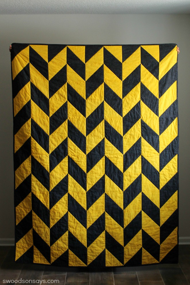 Black and Yellow Quilt