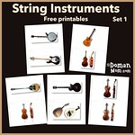 Free String Instruments Flash Cards (set 1)