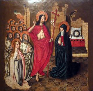 Pere Terrencs. Aparición del resucitado a María. Finales del XV.