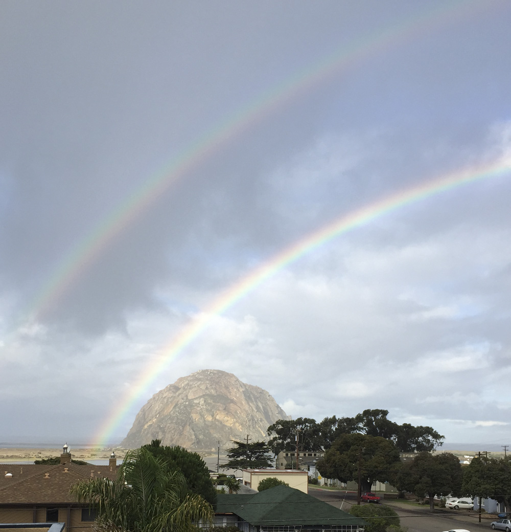Double Rinbow Morro Rock, Morro Bay