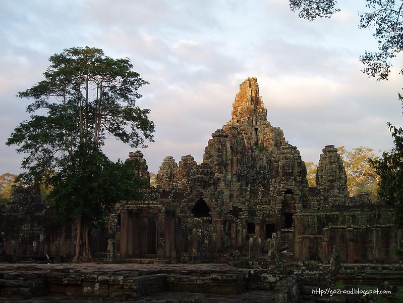 Рассвет, Байон, Ангкор Том