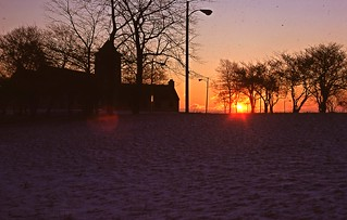 """""""The Promontory Point Field House at Sunrise"""" - Chicago - Jan 1979 - TIFF Slide ReScan - 003"""