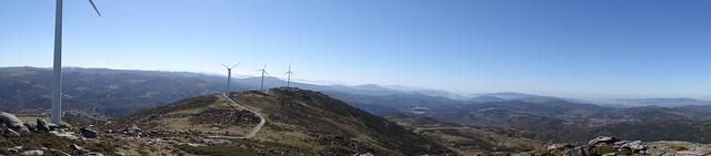 Mirador das Tres Rías en la Serra do Cando