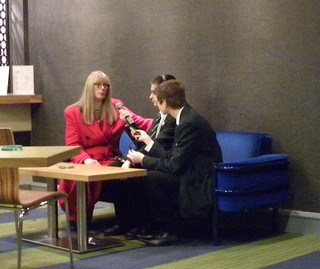 Barbara Davidson and interviewers