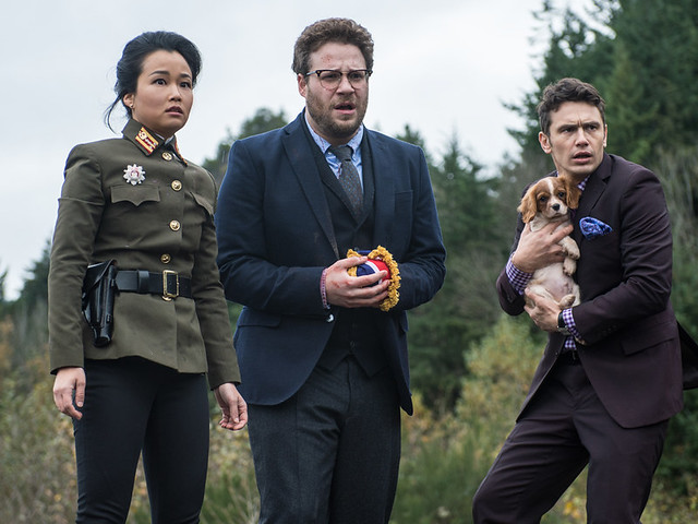 Diana Bang, Seth Rogen and James Franco have fun making a crap movie called THE INTERVIEW.
