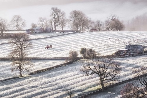 morning trees winter mist tractor cold ice nature weather sunrise countryside frozen frost fuji sheep peakdistrict farming fujifilm agriculture dovedale thorpecloud xt1 18135mm