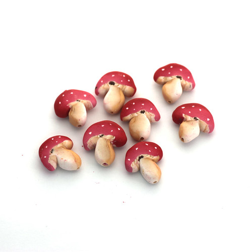 Toadstool Cane Beads