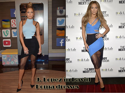 J.Lo in  David Koma dresses