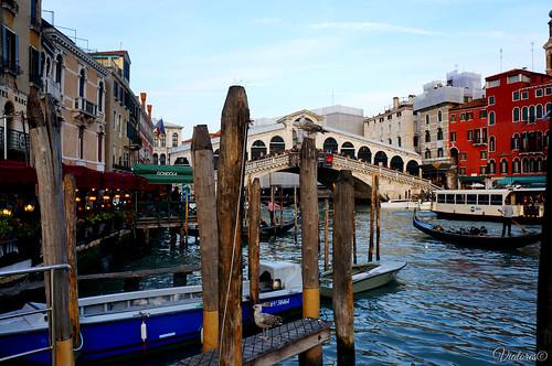 Vaporetto, gondola. Venice. Italy
