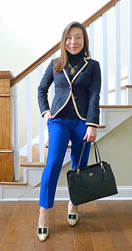 professor blazer + drapey pants
