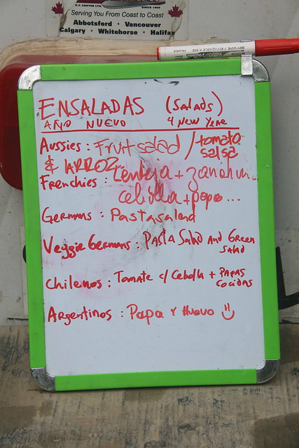 New Years Menu.  Antigua, Guatemala.
