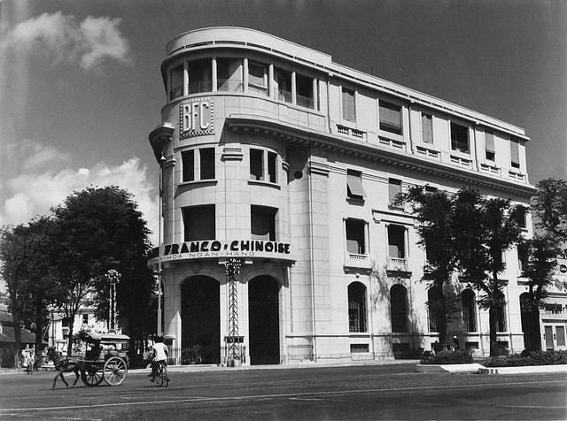 SAIGON ca 1960 - Franco-Chinese Bank - Pháp-Hoa Ngân Hàng, góc Hàm Nghi-Phủ Kiệt