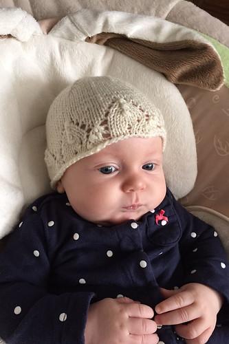 Noelle in snowflake hat