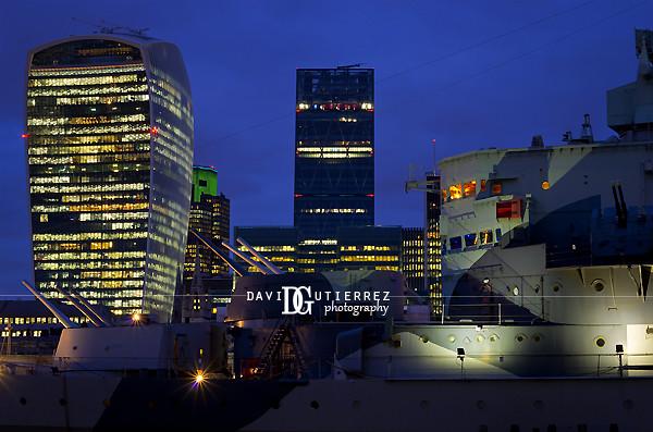 London City and HMS Belfast