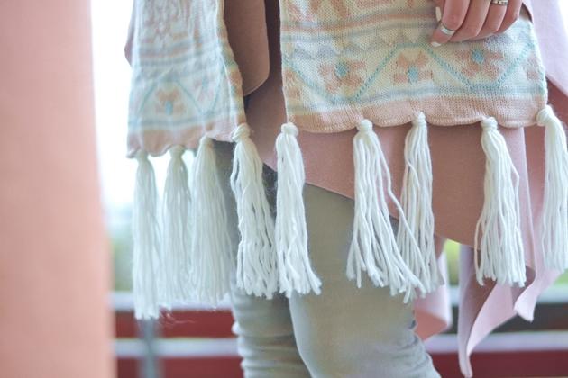 Outfit Pastell im Winter Eugli Cape Rosa (7)