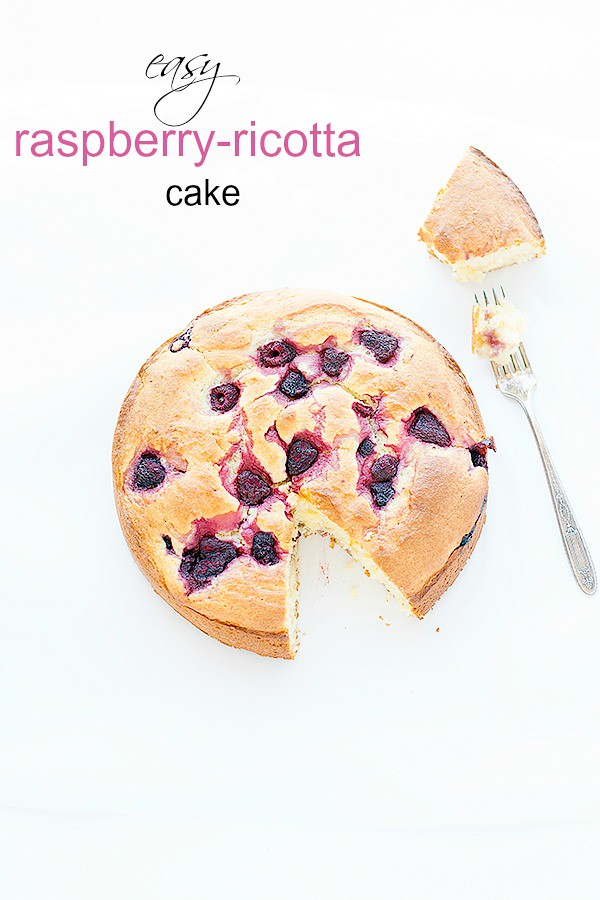 easy raspberry ricotta cake