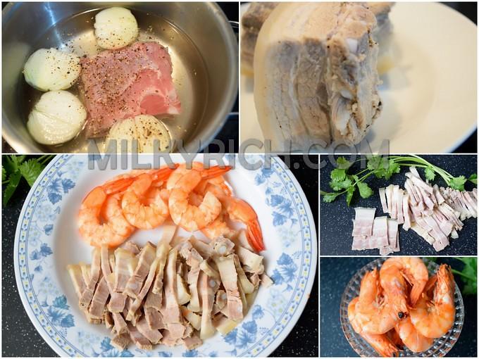 Thịt heo luộc - tôm hấp - 3