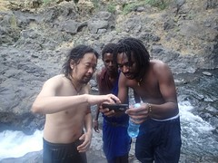 after the waterfall