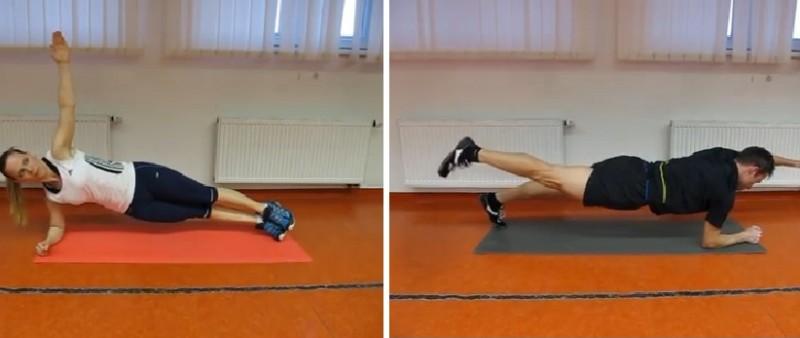 Plank 7x jinak. Cviky k rozvoji středu těla