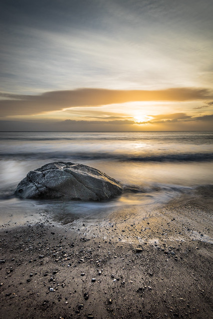 Sunrise in White Rocks, Dublin, Ireland