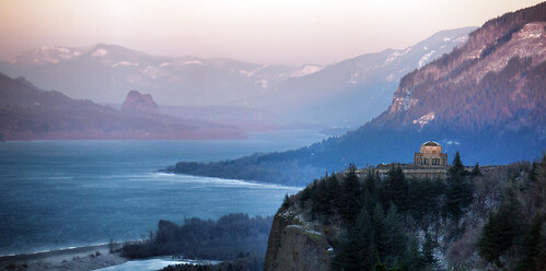 sunset oregon columbia gorge