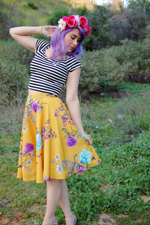 Modcloth Ikebana For All skirt