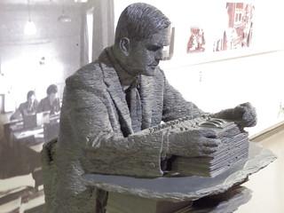 Alan Turing, Statue, Bletchley Park, Milton Keynes, Buckinghamshire