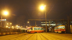 Multi-track drifting Moscow tram