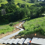 Hill Side Concrete Walkway Completed In Vacaville CA