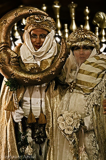 A Venetian Couple Dressed Up for Carnevale