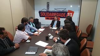 Paulinho da Força recebe lideranças da região de Presidente Prudente em Brasília