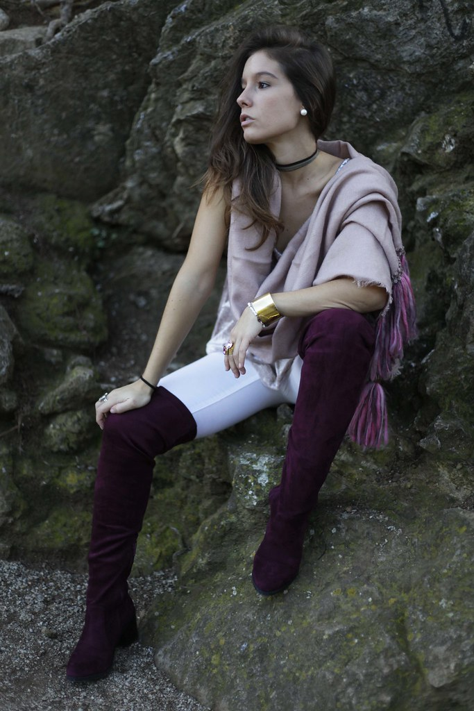 03_Burgundy_and_pink_outfit_autumn_fashion_blogger_theguestgirl_barcelona