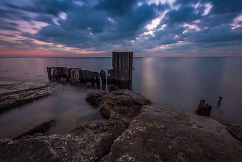 morning light lake chicago beach water sunrise illinois nikon long exposure decay michigan il filter shore nd nikkor fullerton f4 density neutral d600 d610 1635mm 10stop