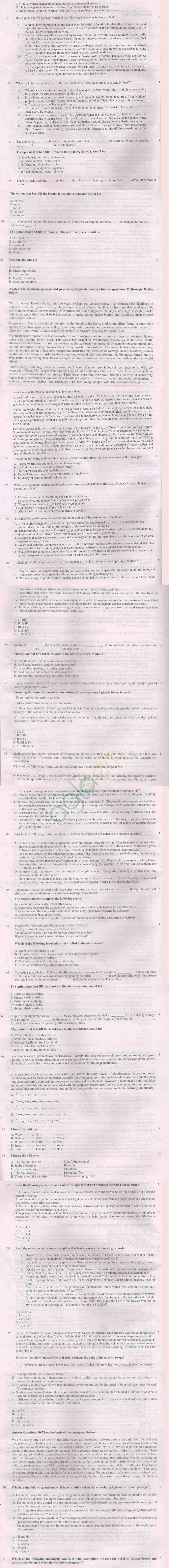 XAT 2011 Question Paper with Solutions