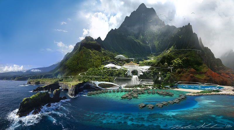 Jurassic World Island concept art