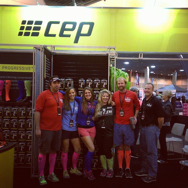 @runntri crew rocking the @cepsports_USA booth at #rnrnola #cepcompression #runntri #triouradventure