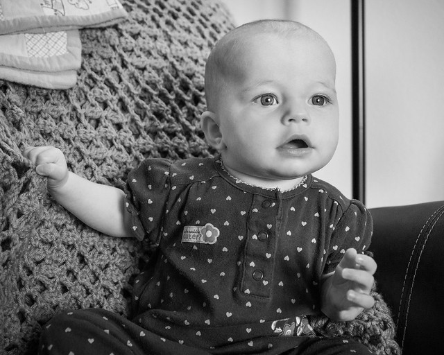 Baby, Monochrome, Portrait, B&W, Infant, Child Portrait