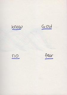 19 Know God