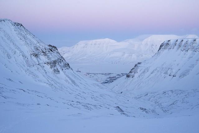 Longyearbyen fra Larsbreen