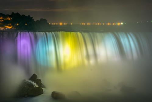 After dark at Niagara Falls